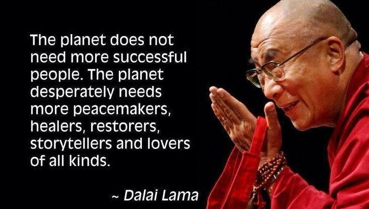 The planet needs more peacemakers