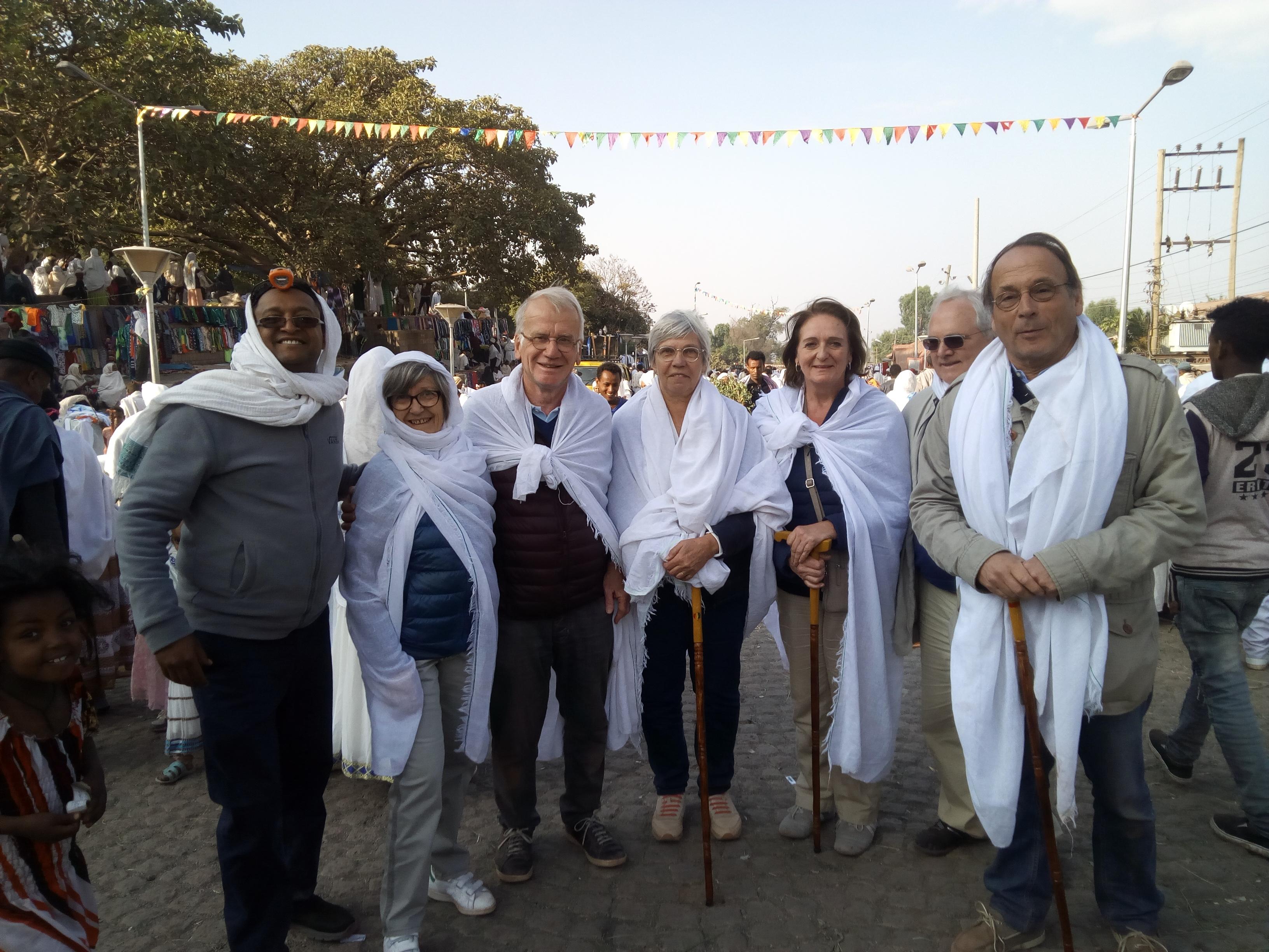 Ton Rêve Ethiopie Voyage clients à la fête de Noel à Lalibela